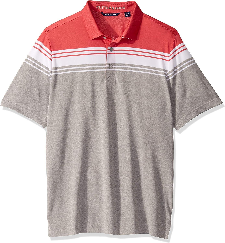 Cutter Buck Ranking TOP19 Men's In stock Short Sleeve 3 Alki Button Stripe Po Valiant