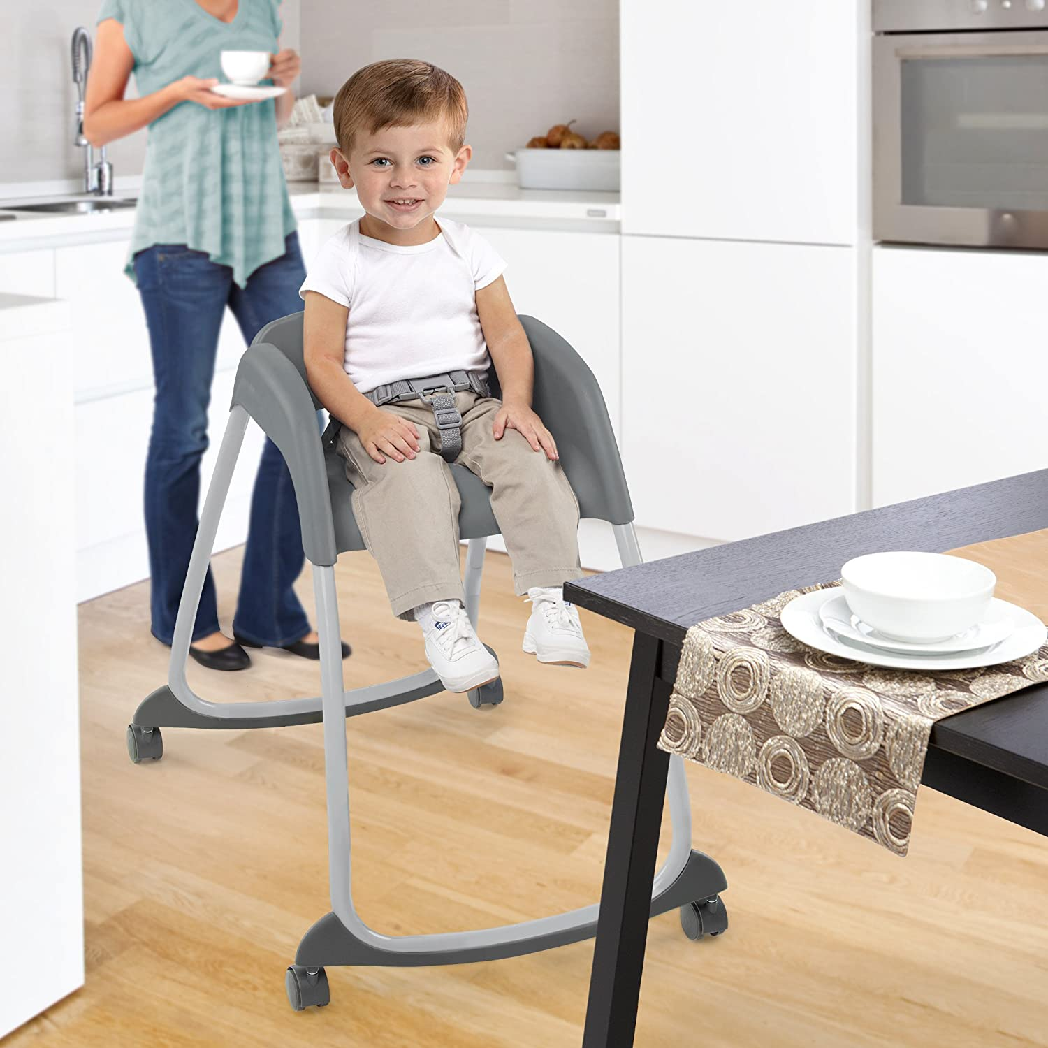 amazon com ingenuity trio 3 in 1 ridgedale high chair grey baby