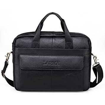 a0452868d9 Image Unavailable. Image not available for. Color  Men s Classic Top Cow  Genuine Leather Business Handbag ...