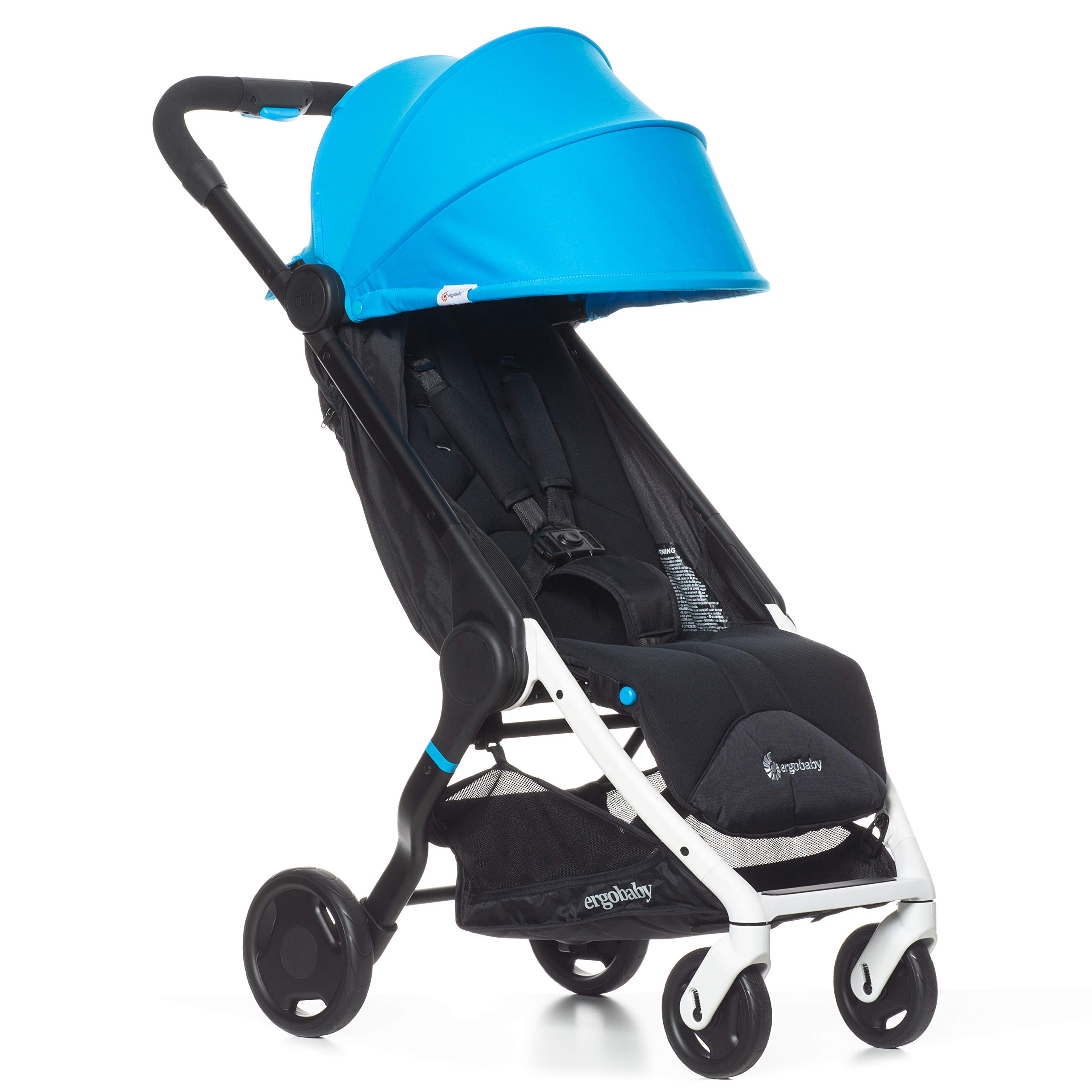 Ergobaby Metro Lightweight Baby Stroller, Compact Stroller with Easy One-Hand Fold, Blue