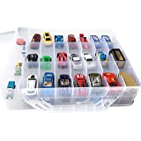 HOME4 Double Sided BPA Free Toy Storage Container - Compatible with Mini Toys, Small Dolls Hot Wheels Tools Crafts - Toy Orga