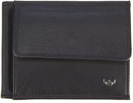 Golden Head Polo - Billetera con cierre de clip (10,5 cm) negro ...