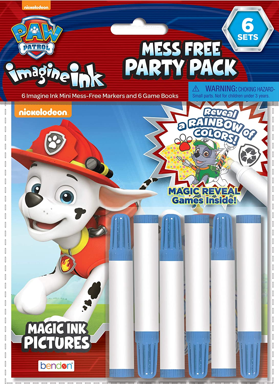 Nickelodeon Paw Patrol Imagine Ink Mess-Free Coloring Pad Bendon NEW
