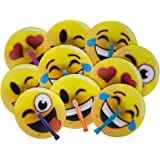 "24-Pack of 10"" Emoji Face Paper Folding Fans! Great Kids Party Favor! Variety of Colors and Styles! by M & M Products Online"