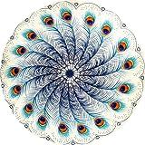VERNASSA Round Tapestry Roundie Indian Mandala Round Beach Throw Tapestry Hippy Boho Gypsy Cotton Table Cover Sofa Bed Throw