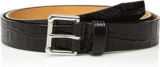 product image for Circa Leathergoods Men's Crocodile Embossed Italian Leather Belt