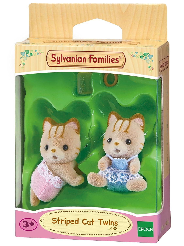 SYLVANIAN FAMILIES Striped Cat Twins Mini muñecas y Accesorios Epoch para Imaginar 5188: Sylvanian Families: Amazon.es: Juguetes y juegos