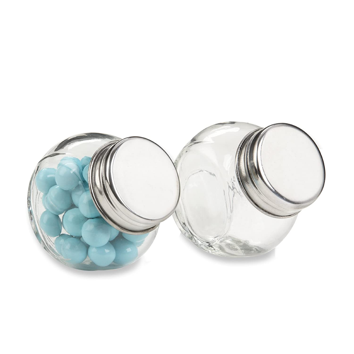 Amazon.com : Kate Aspen Set of 12 Mini Glass Favor Jar : Party ...