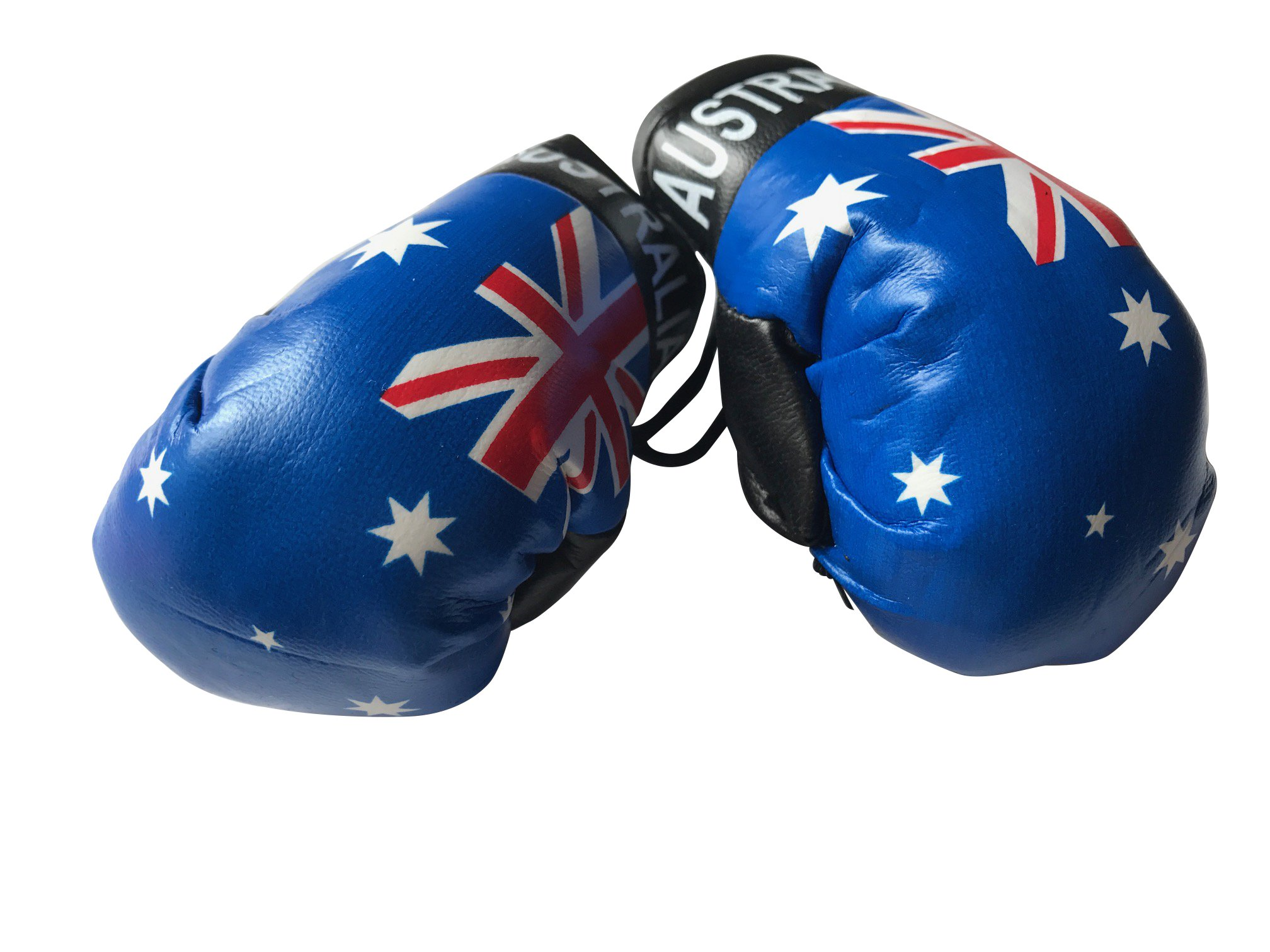 Flag Mini Small Boxing Gloves to Hang Over Car Automobile Mirror – Americas (Country: Australia)
