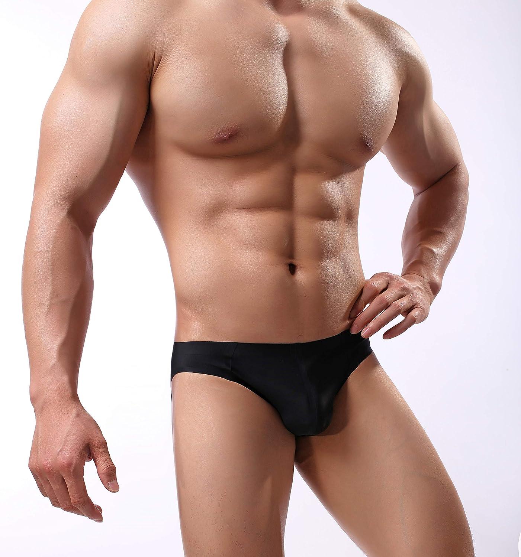 Mens Seamless Underwear Invisible No Show Thong Briefs PU17