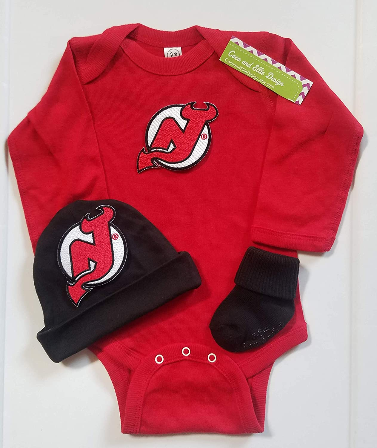 buy online 49990 b7977 Amazon.com: New Jersey Devil baby outfit/Devils baby clothes ...