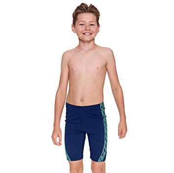 0e8935cbe0c4f Zoggs Junior Boys Solo Jammer Swimming Trunks with V-front Line - Navy, 8