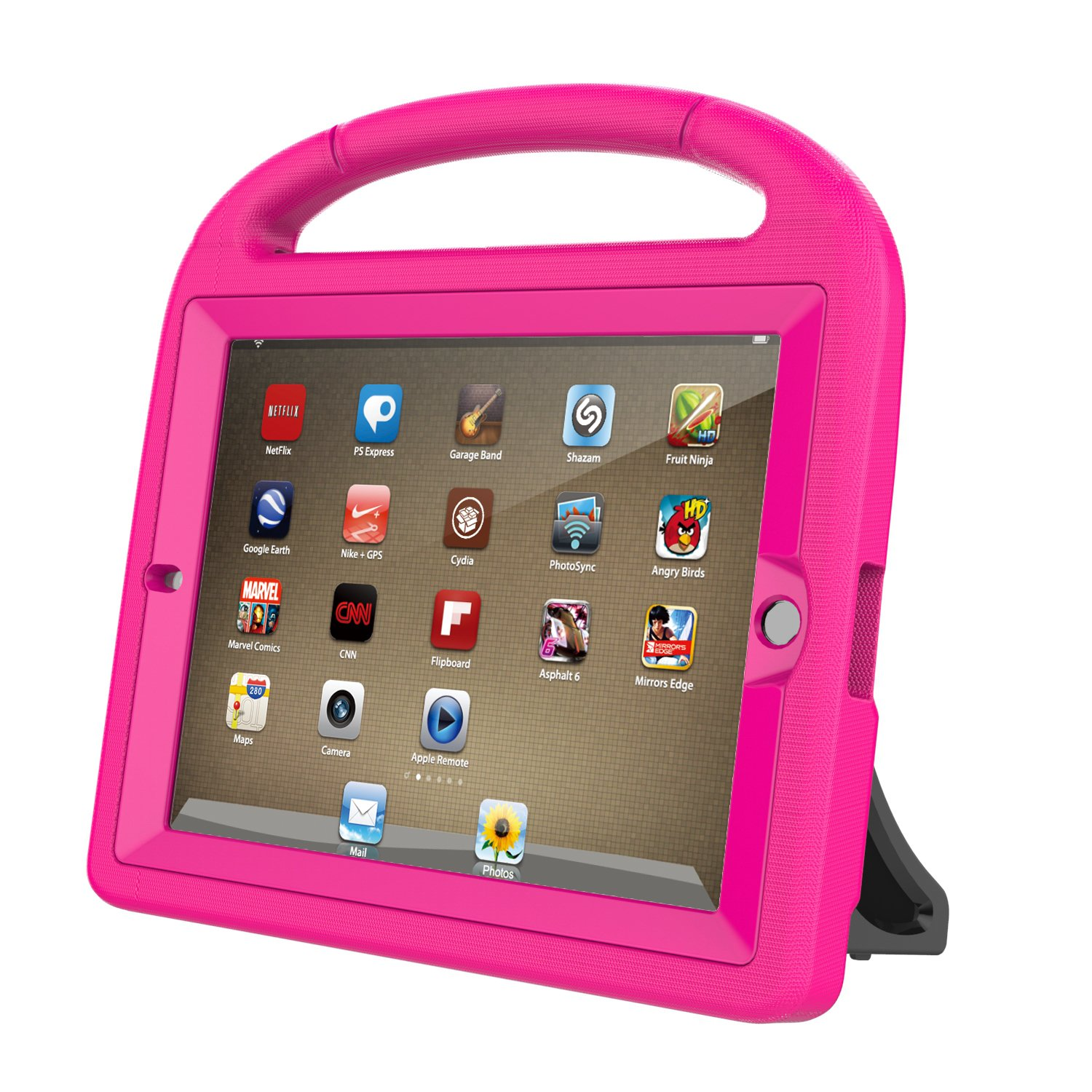 LTROP iPad 2 3 4 Kids Case - Light Weight Shock Proof Handle Friendly Convertible Stand Kids Case with Bulit in Screen Protector for iPad 2, iPad 3rd Generation, iPad 4th Generation,Rose by LTROP (Image #6)
