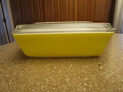 Amazon com: Vintage Pyrex 503 1 1/2 Quart Yellow Fridgie