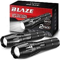 Vont 'Blaze' Tactical Flashlight (2 Pack) LED Flashlights, Extremely Bright Flash Light, High Lumen, Adjustable Beam…
