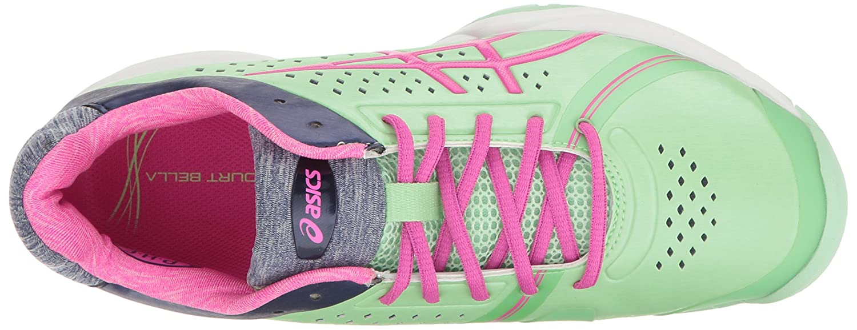 ASICS Women's Gel-Court Bella Tennis Shoe B01H31X4L0 5.5 B(M) US|Paradise Green/Pink Glow/Indigo Blue