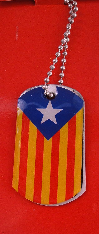 Collar Placa militant de la bandera de Cataluña Estelada: Amazon.es: Joyería