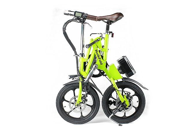 Bicicleta eléctrica plegable® KwiKfold marchas Shimano, color Verde - verde, tamaño 16: Amazon.es: Deportes y aire libre