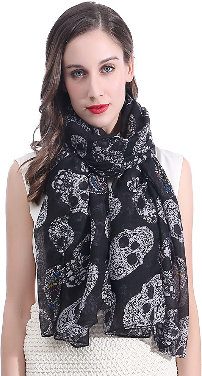 Acheter foulard echarpe bandana tete de mort online 4