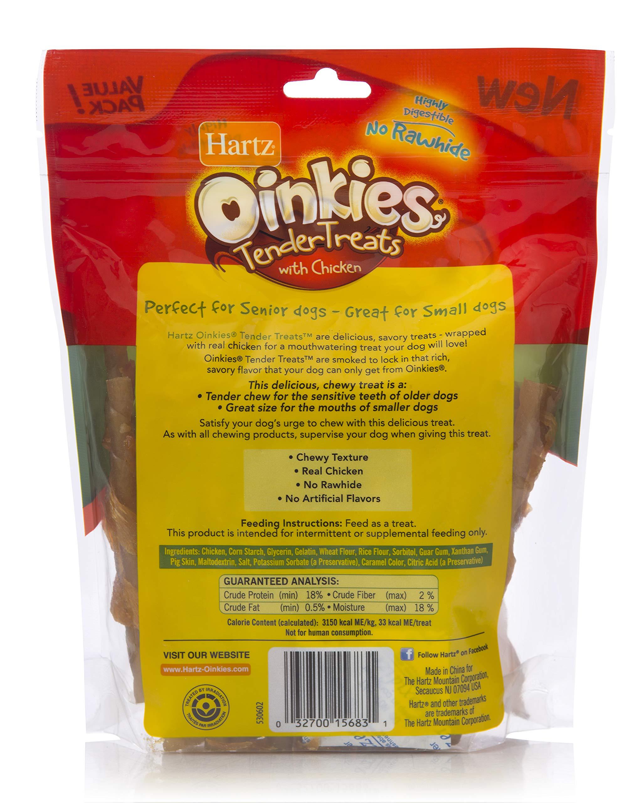 Hartz Oinkies Tender Treats Natural Smoked Chicken Twist Dog Treat Chews - 36 Pack by Hartz (Image #2)
