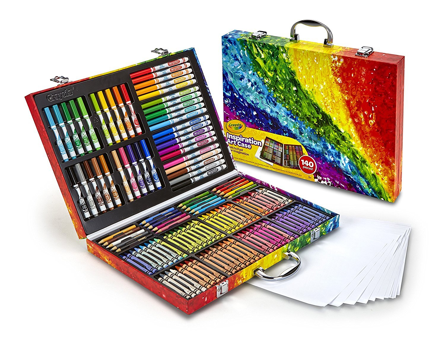 Crayola Inspiration Art Case: 140 Pieces, Art Set, Gifts for Kids, Age 4, 5, 6, by Crayola (Image #7)