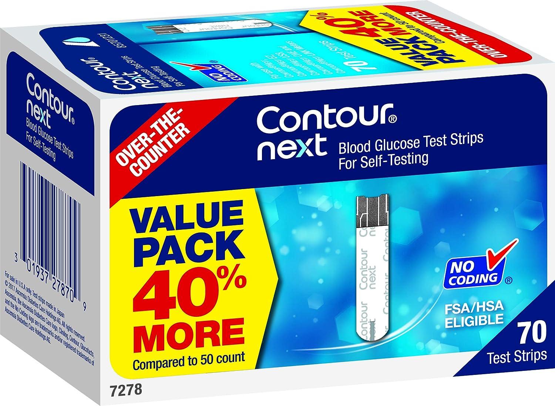 CONTOUR NEXT Blood Glucose Test Strips, 70 Count