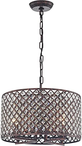 Warehouse of Tiffany IMP483/4 Myrn 4-Light Rustic Copper Chandelier