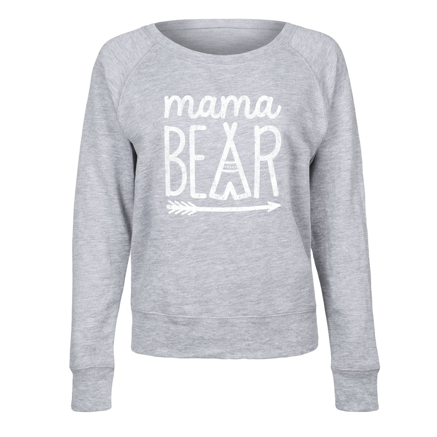 Instant Message Mama Bear - Ladies French Terry Pullover Air Waves