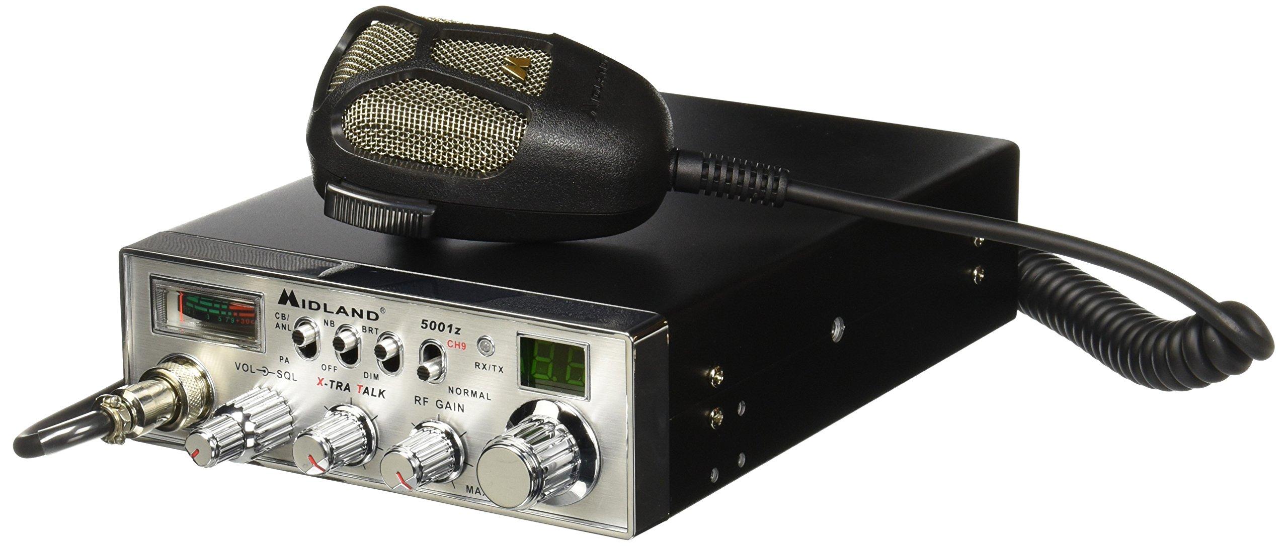 Midland Radios 5001 40 Ch Full Feature Mobile CB Radio w/PA