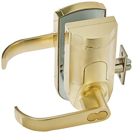 Merveilleux ITouchless Bio Matic Fingerprint Door Lock, Left Handle, Gold