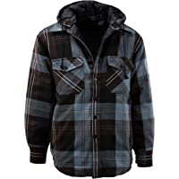 45ed8591 Mens Button Down Flannel Jackets with Detachable Hoodie (Many Patterns and  Styles to Choose from