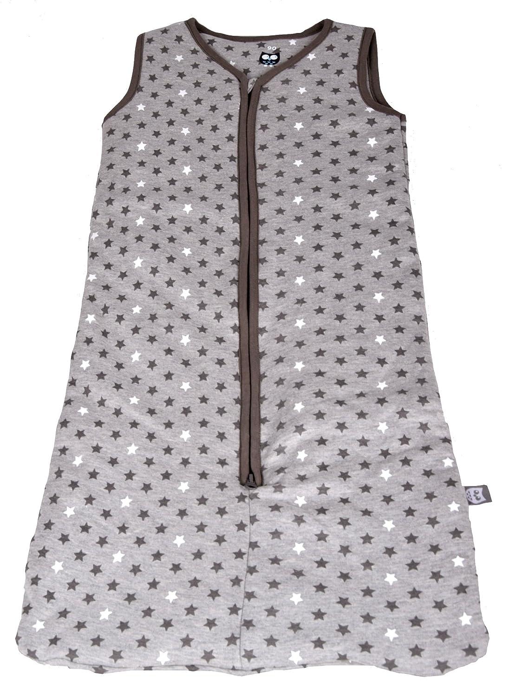 Baby Schlafsack mit Reiß verschluss Babyschlafsack ohne Ä rmel Sterne Muster Grau IW051, Grau, 70 Unbekannt