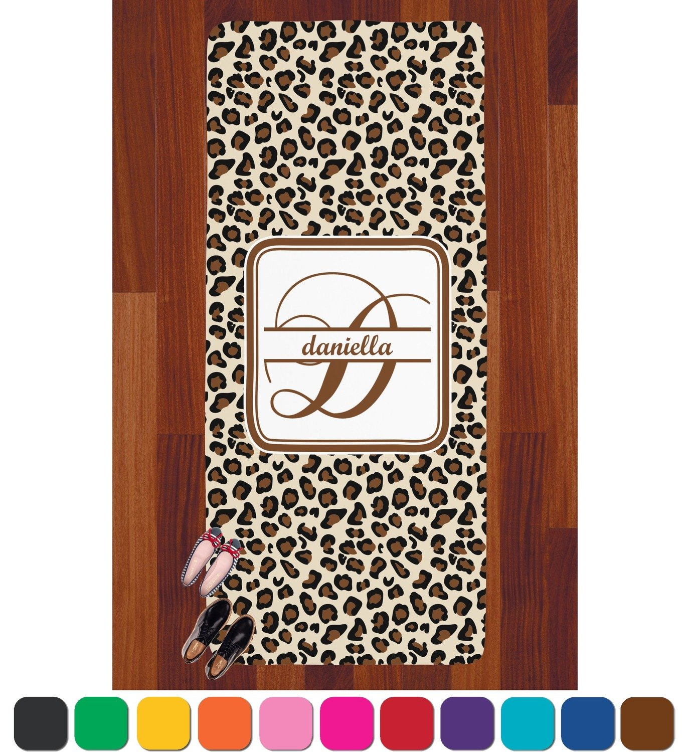 Rnk Shops Leopard Print Runner Rug   3.66'x8' (Personalized) by Rnk Shops