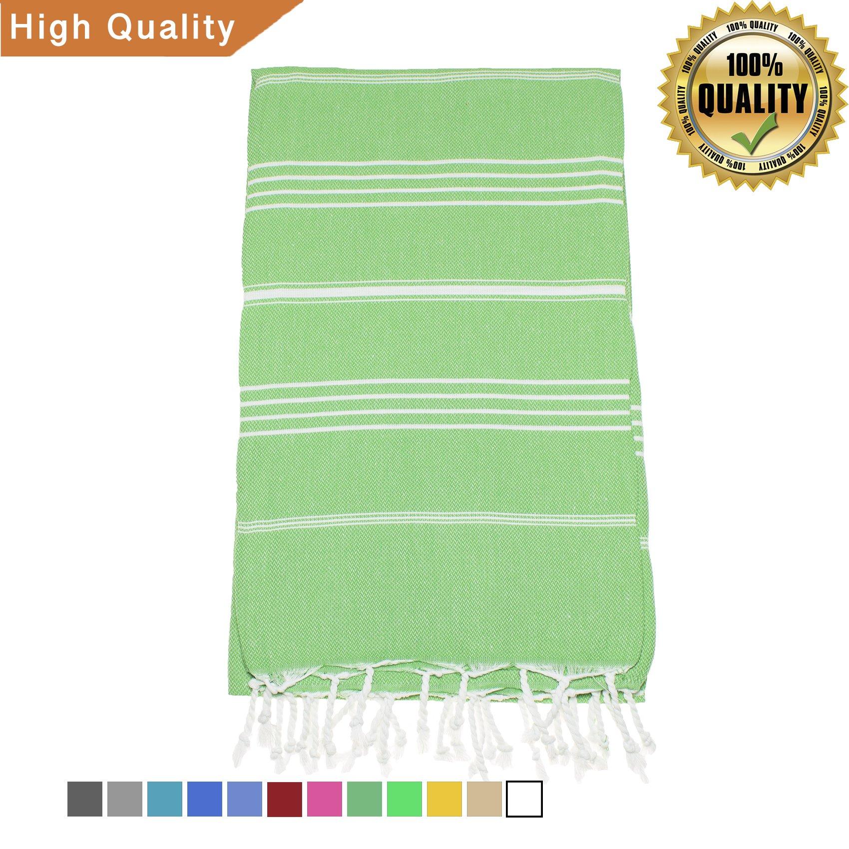 Exclusive District 100% Cotton Turkish Towel/Peshtemal for Beach, Spa, Pool, Bath, Gym 38''x70'' (Paris Green)