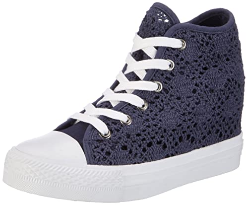 FiorucciFepe024 - Sneaker Alte Donna, Bianco (Bianco (Bianco)), 37