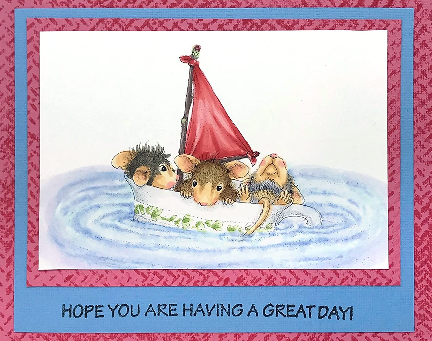 Sail Cup STAMPENDOUS House Mouse Cling Rubber Stamp