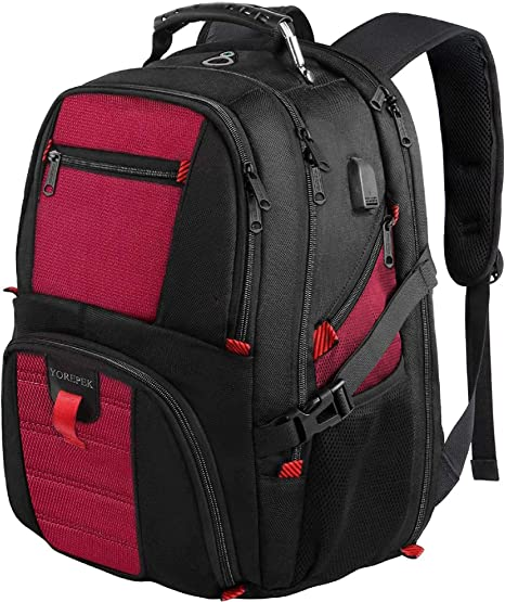 Durable Laptop Backpack 17 Inch Travel Backpack Bookbag With Usb Charging Port For Women /& Men Fits Laptop And Notebook,Style Summer