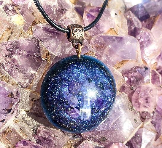 Amazon orgonite pendant tanzanite orgone necklace handmade orgonite pendant tanzanite orgone necklace aloadofball Images