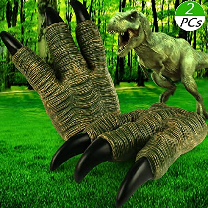 VAMEI 2 PCs Velociraptor Claws Dinosaur For Adult Kids Childrens Party Cosplay Favors