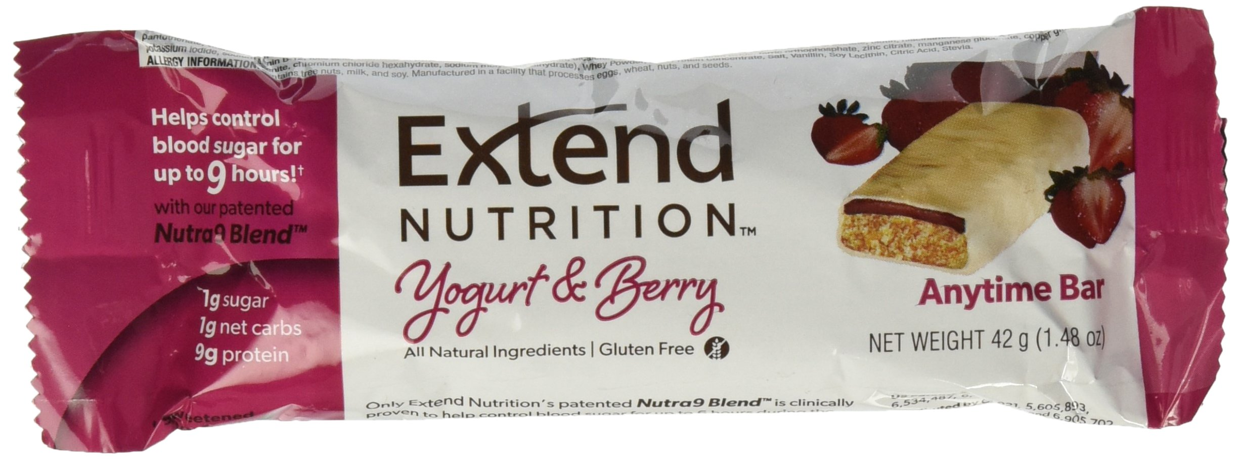 Extend Bar, Yogurt and Berry, 1.48 oz. Bars (15 Count) by Extend