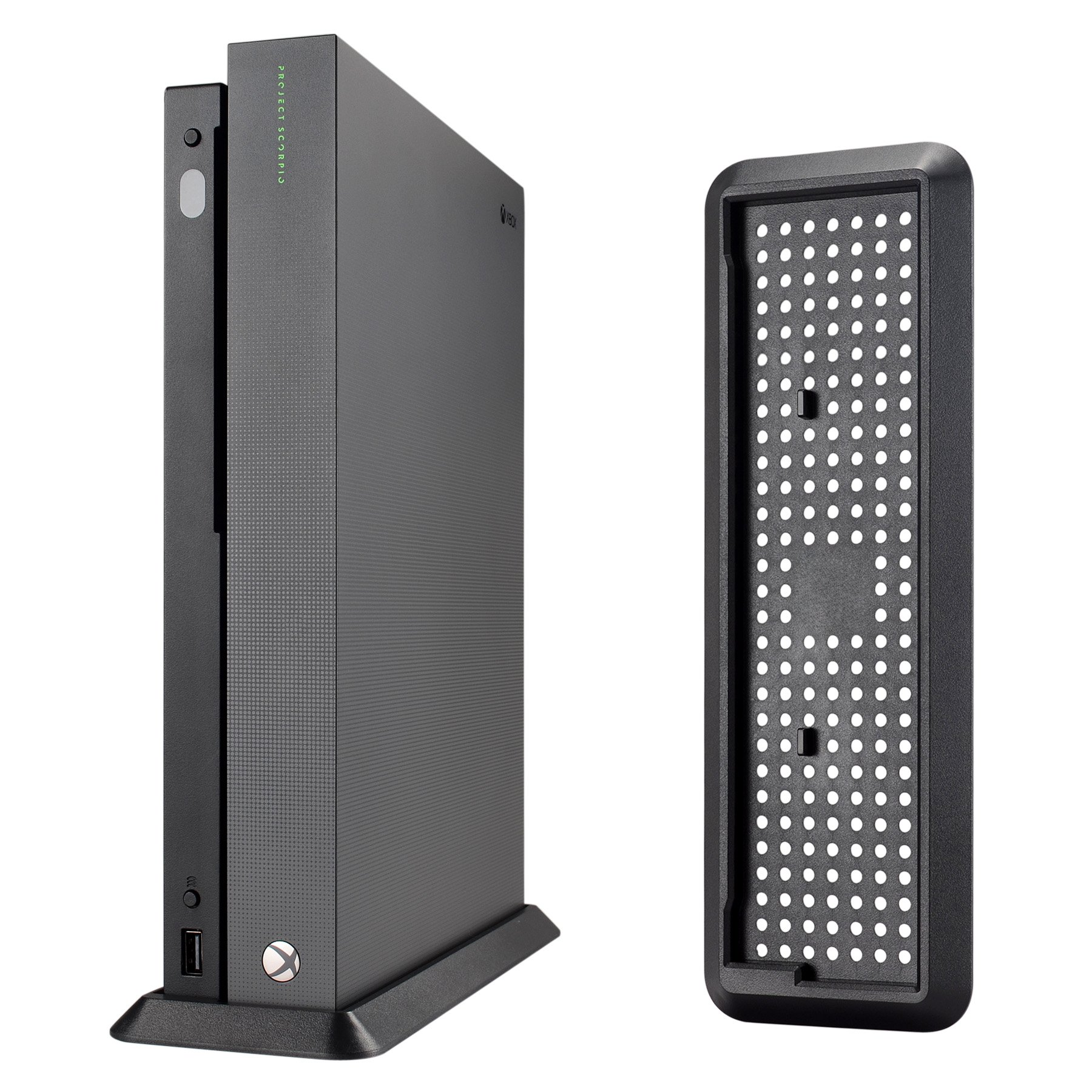 eXtremeRate Vertical Console Stand for Xbox One X Project Scorpio - Black by eXtremeRate