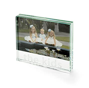 Amazon.com : Mud Pie Memories Photo Frame, Glass Block with ...