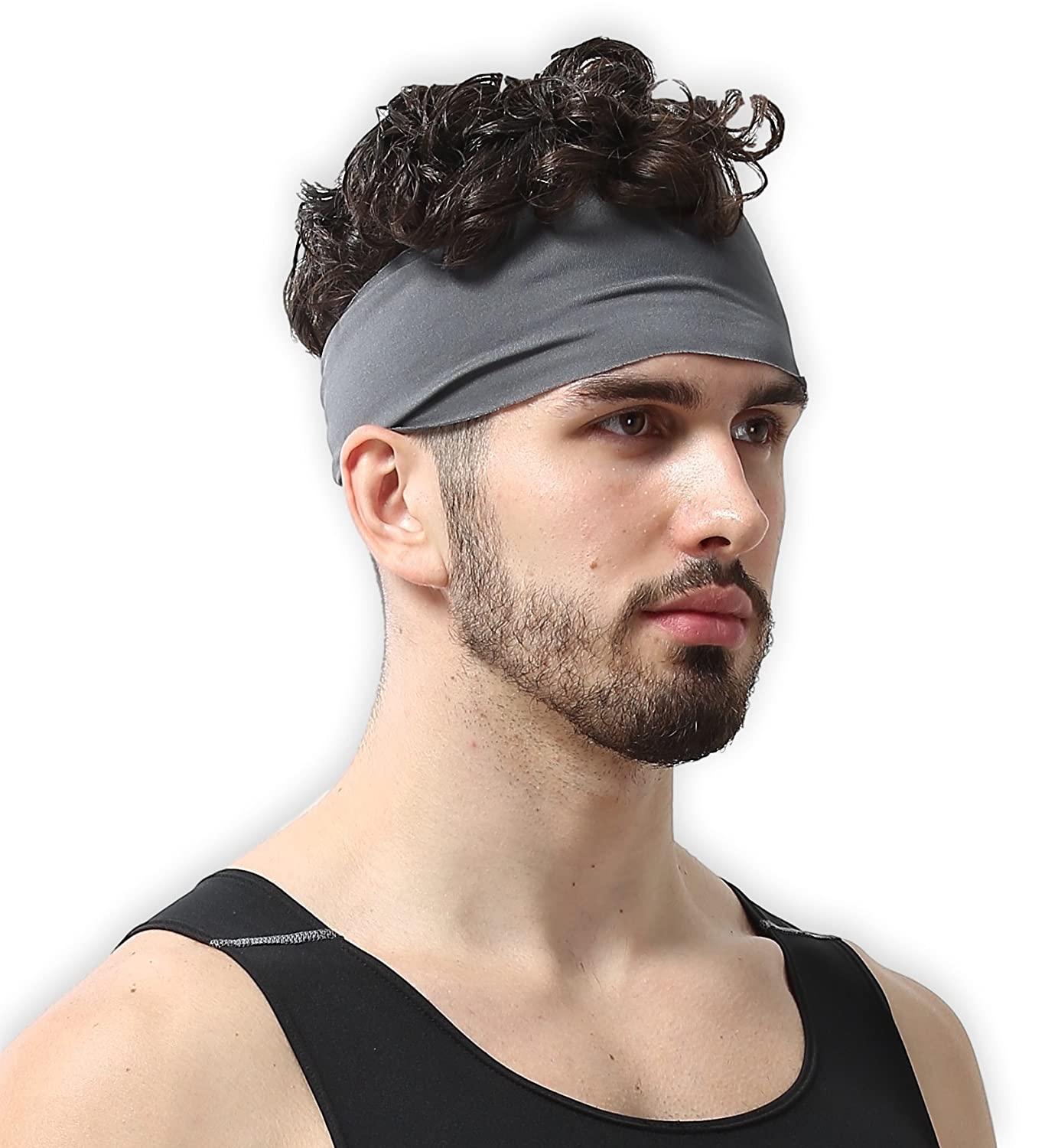 Mens Headband   Guys Sweatband & Sports Headband For Running, Crossfit, Working Out And Dominating Your Competition   Ultimate Performance Stretch & Moisture Wicking by Tough Headwear