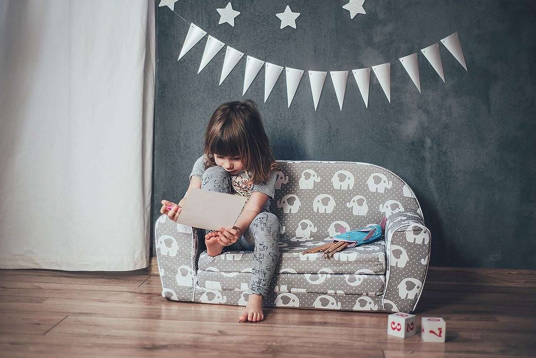 Hearts Enfant dans Le Fond Pliable Canap/é 2 en 1 et lit Stars MoMika Canap/é Enfants Sofa-Light Enfants 0-4 Ans