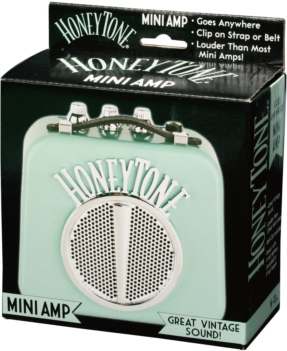 color negro Danelectro Honeytone N-10 Mini Combo de guitarra