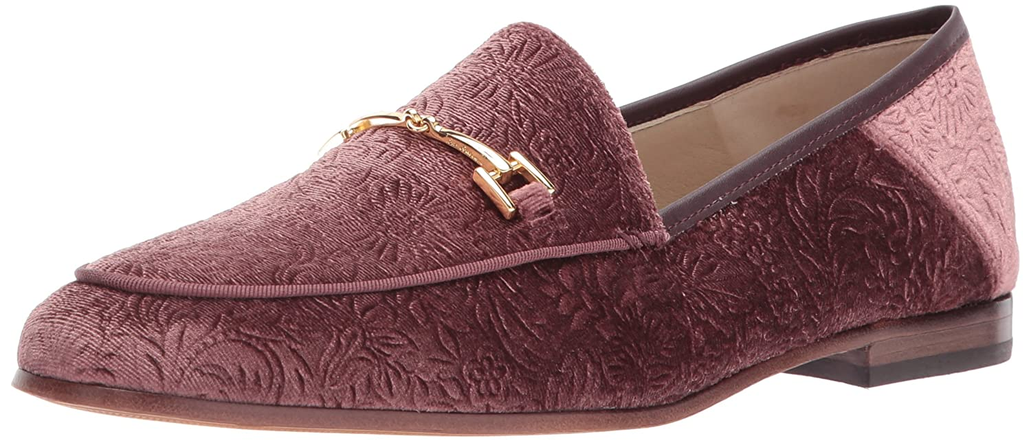 Mauve Wine Embossed Velvet Sam Edelman Women's Loriane Loafer Flats