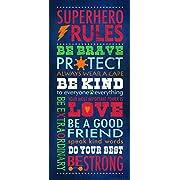 Superhero Rules by Stephanie Marrott 1- 8 x18  Poster Print