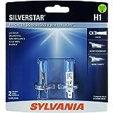SYLVANIA H1 SilverStar High Performance Halogen Headlight Bulb, (Contains 2 Bulbs)