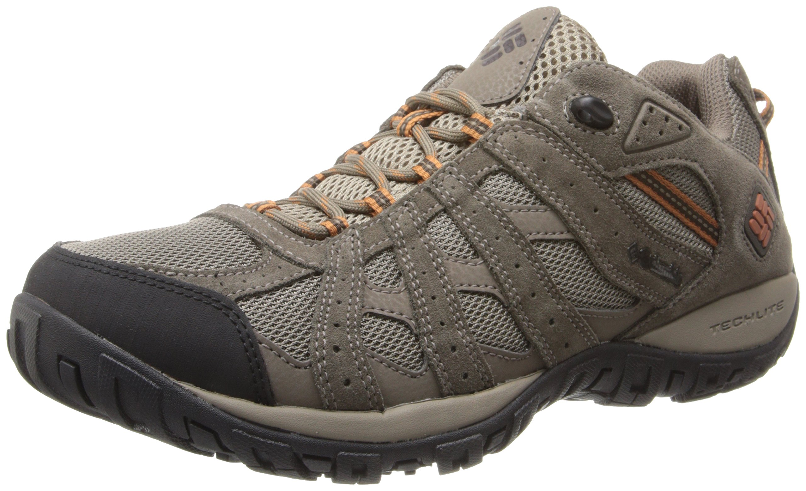 Columbia Men's Redmond Waterproof Hiking Shoe, Pebble, Dark Ginger, 12 D US by Columbia