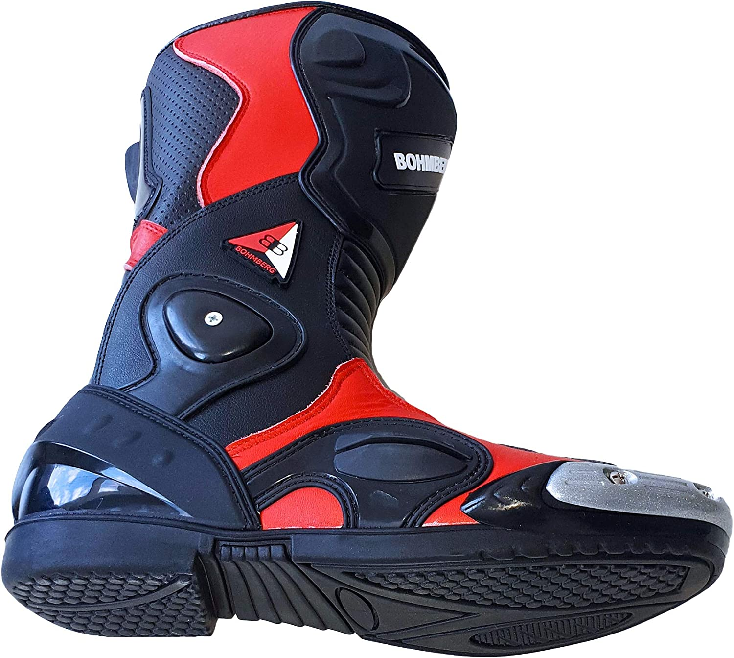 Bohmberg Motorbike Boots Motorcycle Shoes Racing Stylist Ankle Boot Motorcycle Off Road Touring Shoes Waterproof Armoured for Mens Bikers UK 12